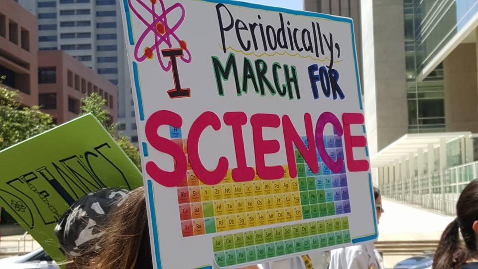 March for Science sign