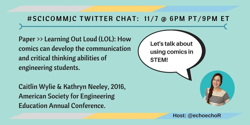 Twitter chat: Exploring Science Communication and Teaching with Comics