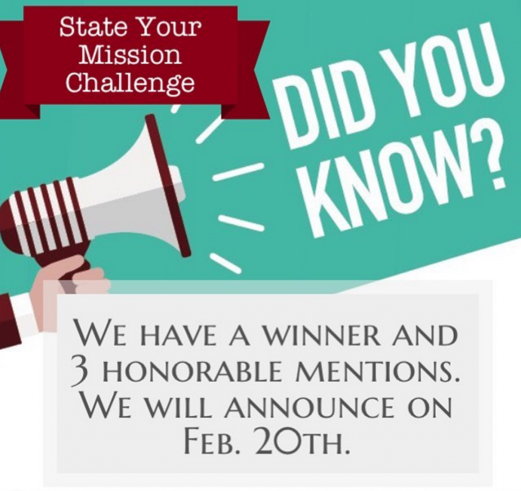 State Your Mission Challenge Winners