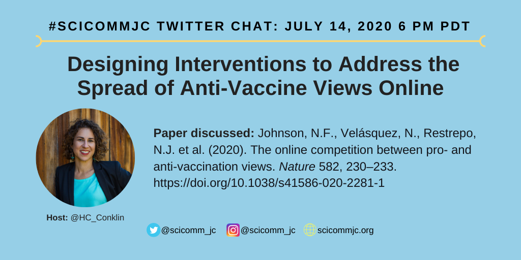 Poster for Twitter chat on july 14th 2020